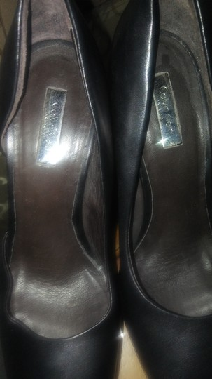 Calvin Klein Collection Black with DK. Brown Pumps Image 4