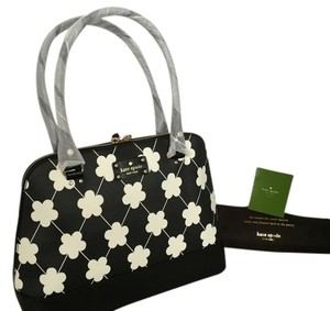 Kate Spade Satchel in white and black flower