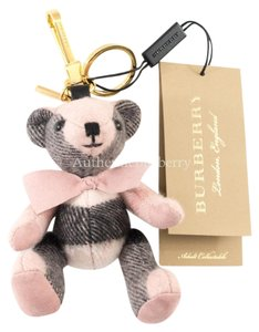 Burberry 2 Thomas Bear Charm in Check Cashmere