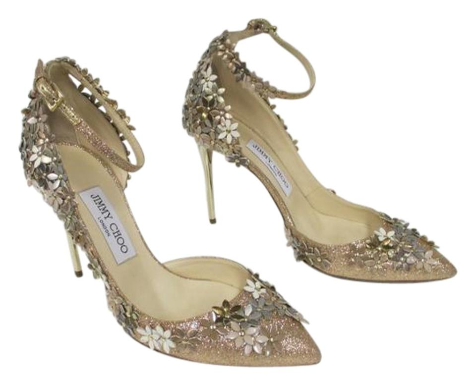 af004bf53b2 Jimmy Choo Champagne and Nude Nude Champagne Mix Lorelai Floral ...