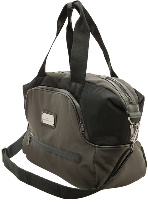 Item - Iconic Small Army Green/ Black Polyester Fleece Weekend/Travel Bag