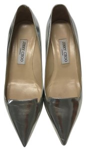 Jimmy Choo Metalic Silver Pumps