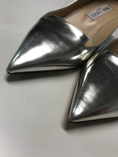 Jimmy Choo Metalic Silver Pumps Image 1