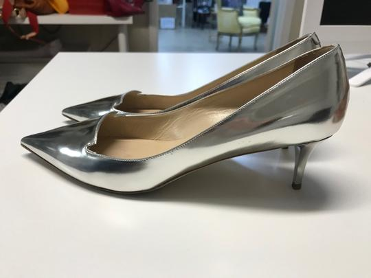 Jimmy Choo Metalic Silver Pumps Image 2