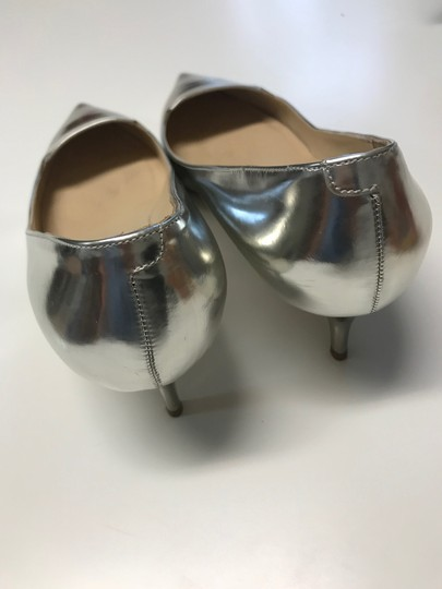 Jimmy Choo Metalic Silver Pumps Image 3