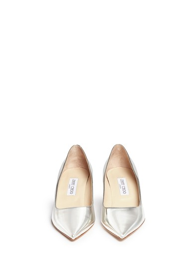 Jimmy Choo Metalic Silver Pumps Image 4