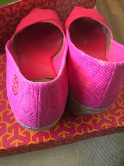 Tory Burch Espadrille Woman's 9 Red/Pink Wedges Image 2