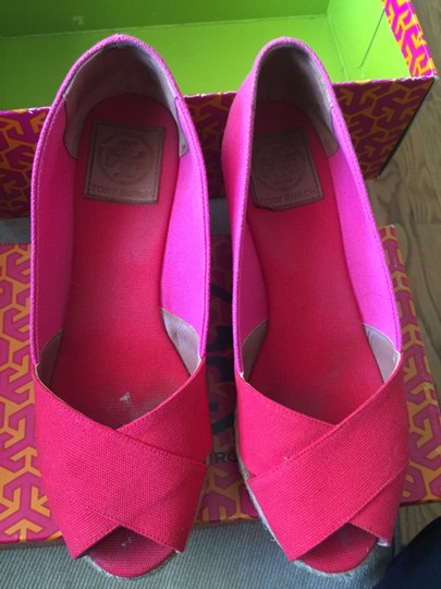 Tory Burch Espadrille Woman's 9 Red/Pink Wedges Image 3