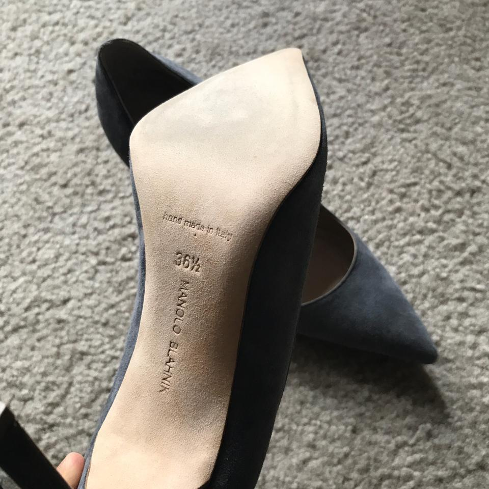 760ee9a614ac3 Manolo Blahnik Gray Grey Suede Bb Pointed Toe Pointy Pumps Size EU ...