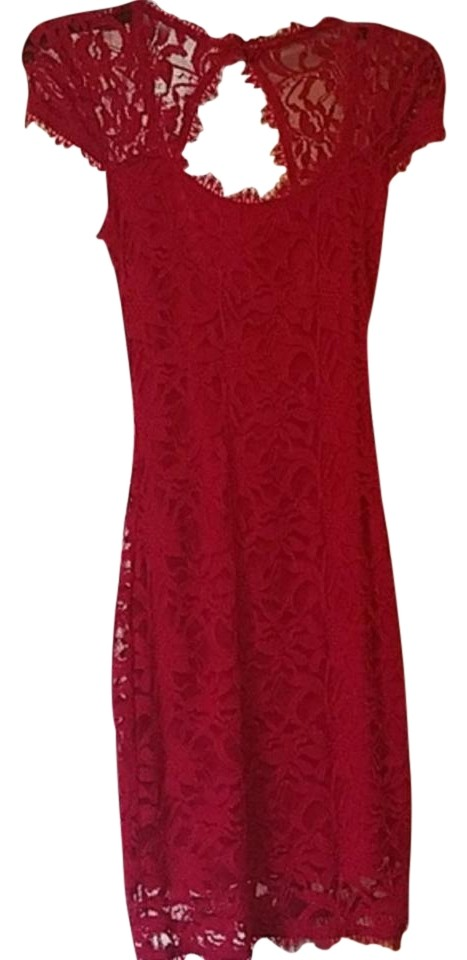 Macy\'s Red Mid-length Cocktail Dress Size 2 (XS) - Tradesy