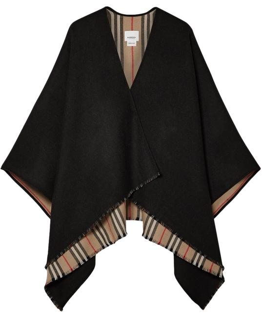 Preload https://img-static.tradesy.com/item/22251975/burberry-neutral-multicolored-black-reversible-wool-wrap-ponchocape-size-os-0-4-650-650.jpg