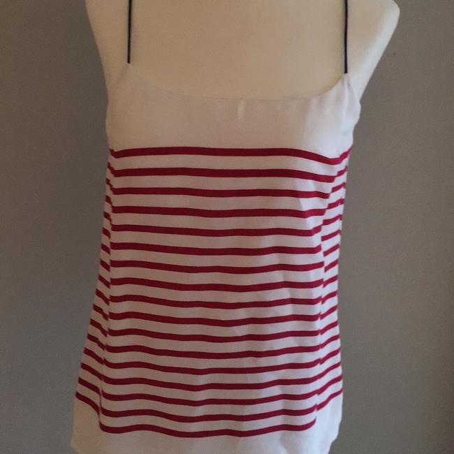 Banana Republic Top red white and navy Image 1