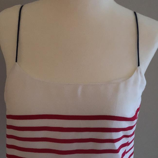 Banana Republic Top red white and navy Image 2