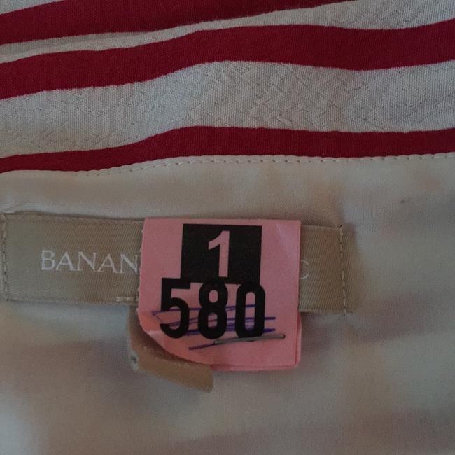 Banana Republic Top red white and navy Image 7