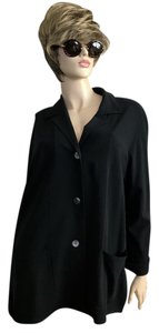 Max Mara Wool Lycra Oversized Black Jacket