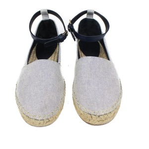 Cline Strap White Blue Sandal navy Flats