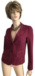 Kenar Casual Striped Machine Washable Preppy Red/Navy Blazer