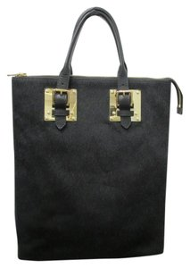 Sophie Hulme Pony Hair Tote in Black