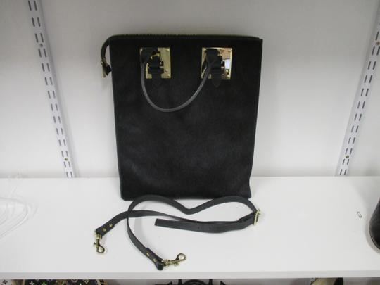 Sophie Hulme Pony Hair Tote in Black Image 1