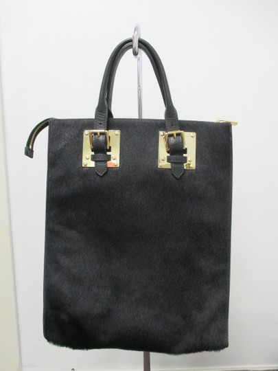 Sophie Hulme Pony Hair Tote in Black Image 2