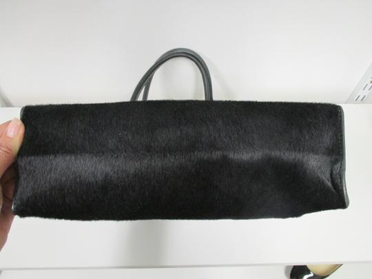 Sophie Hulme Pony Hair Tote in Black Image 5
