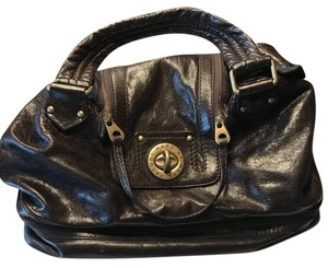 Marc by Marc Jacobs Leather Travel Satchel in Dark Brown