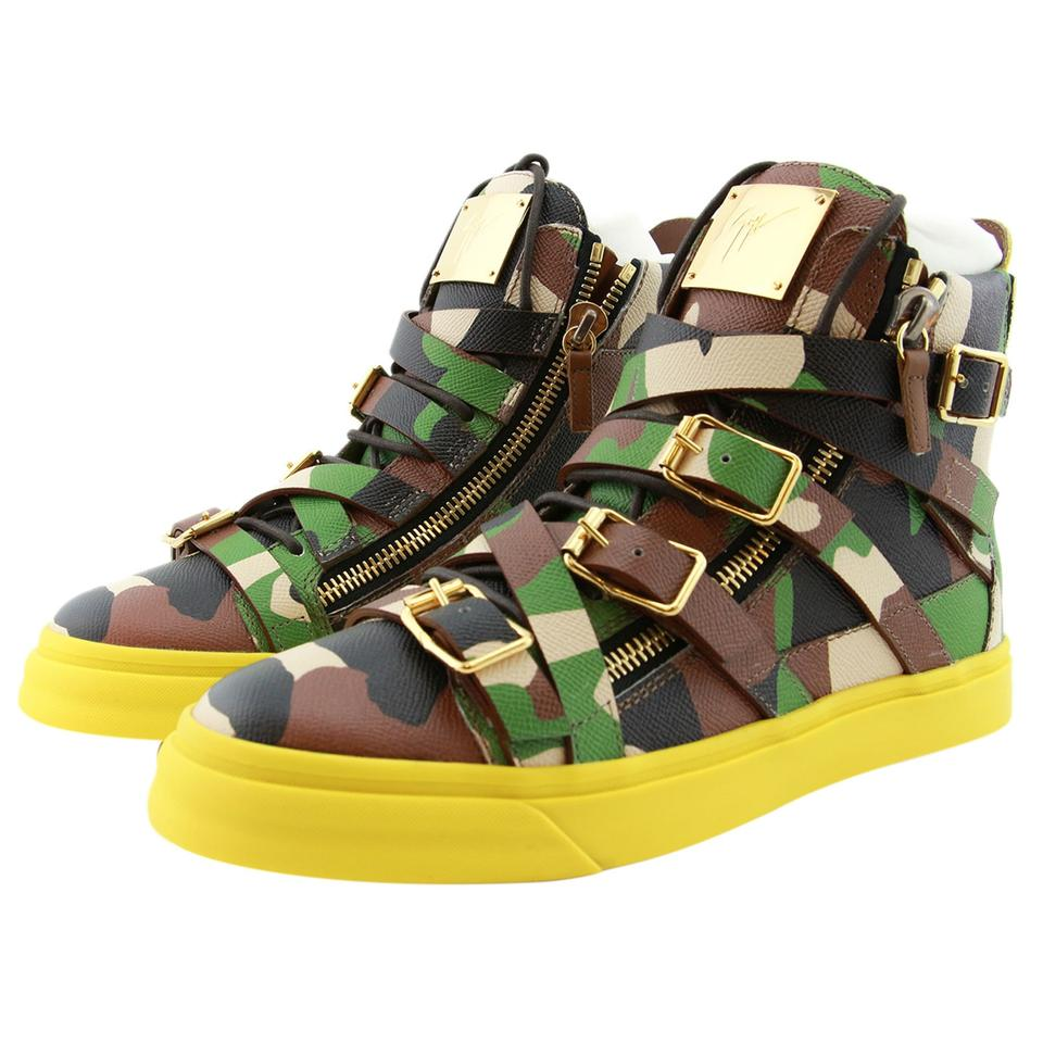 1bba2f8de2f41 Giuseppe Zanotti Men Men Boots High Top Sneakers High Top Camouflage  Athletic Image 0 ...