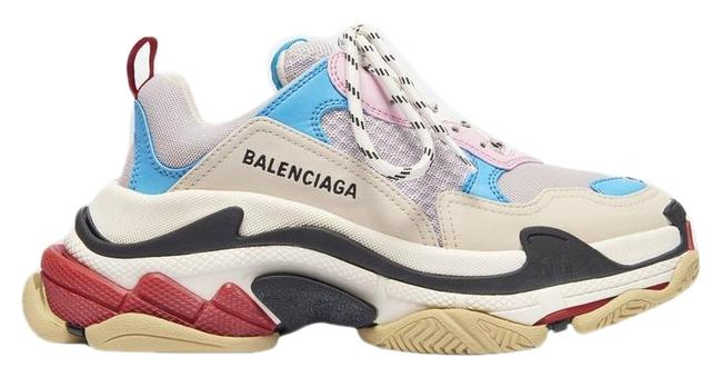 Item - White Blue Pink Eu37/Us7triple S Sneakers Size EU 37 (Approx. US 7) Regular (M, B)