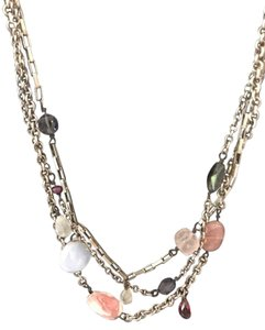 Sundance Sterling Silver and Semi-precious Stone Multi-strand Necklace