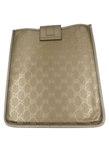 Gucci Gucci GG Gold Imprime Coated Canvas iPad Case Misc.
