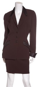 Thierry Mugler Thierry Mugler Brown & Black Vintage Skirt Suit