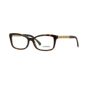 Chanel NEW Butterfly Chain Eyeglasses CH 3264Q c. 1512 Tortoise & Gold 52mm
