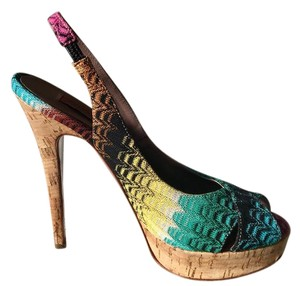 Missoni Multi pink, black, turquoise, yellow, rust Pumps