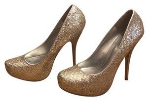 ALDO gold and silver sparkle/glitter Platforms