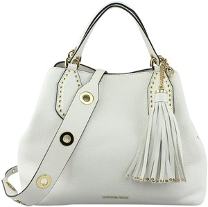 d510b315c3c8 Added to Shopping Bag. Michael Kors Brooklyn Brooklyn Grab Tote in Optic  White. Michael Kors Brooklyn Large Optic White Leather Tote