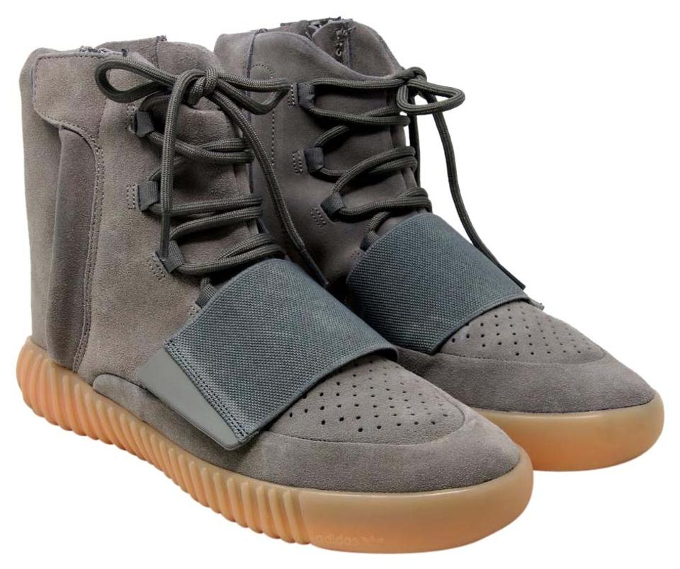 a1db6b2e2d6b adidas X Yeezy Grey Gum Boost 750 Light Glow In The Dark Suede Bb1840  Sneakers