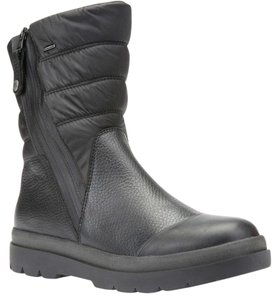 Geox Leather Knee High Zip Up Black Boots