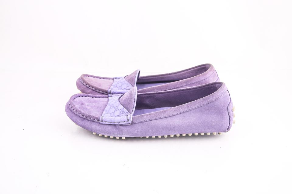 cd9f840631ae Gucci Purple   Suede Loafers Flats Size US 7.5 Regular (M
