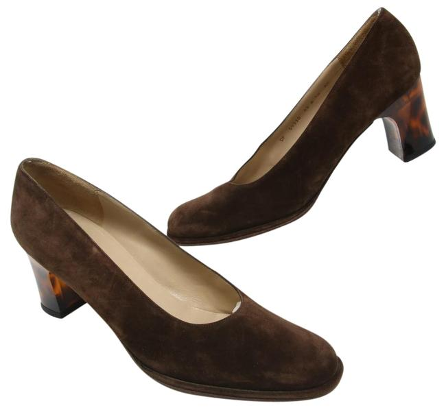 Item - Brown Signature Boutique Suede Slip On Tortoiseshell Pumps Aa Formal Shoes Size US 10 Narrow (Aa, N)