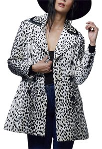 Free People Animal Print Rocker Festival Quilted Coat