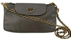 Prada Cross Body Crossbody Black Wallet On Chain Chain Shoulder Bag