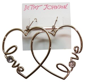 Betsey Johnson Betsey Johnston Heart Dangle Earrings