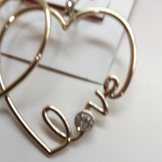 Betsey Johnson Betsey Johnston Heart Dangle Earrings Image 1