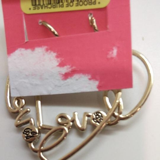 Betsey Johnson Betsey Johnston Heart Dangle Earrings Image 2