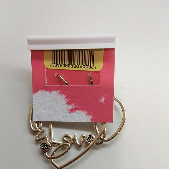 Betsey Johnson Betsey Johnston Heart Dangle Earrings Image 3