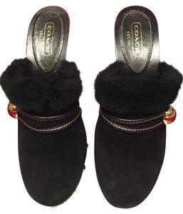 Coach Black Mules