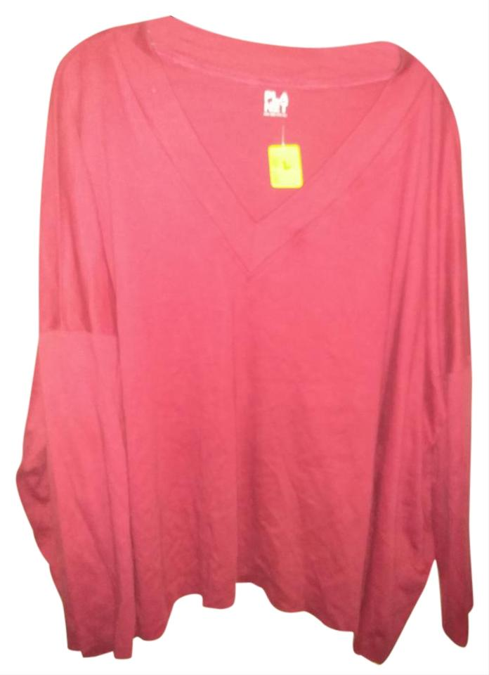 520402e19f78 Planet Gold Red Oversized One Fits All Cotton Sweatshirt/Hoodie Size ...