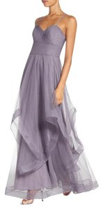 Watters & Watters Bridal See Professional Pictures/Soft Purple Tulle Maids Horsehair Ruffle Layered Gown A-line Feminine Wedding Dress Size 10 (M)