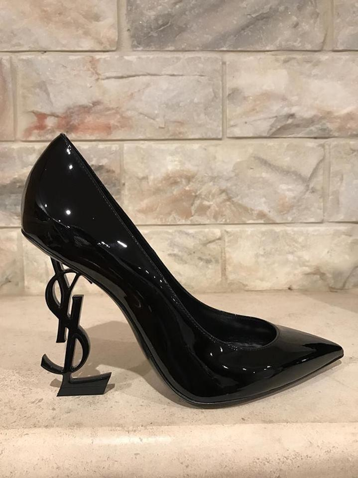 e8fa2cbcfa6 opyum pumps in patent leather with silver tone heel