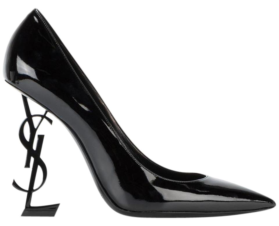 1a252442a2262 Saint Laurent Black Yves Ysl Opyum Opium 110 Patent Leather Heel Pumps